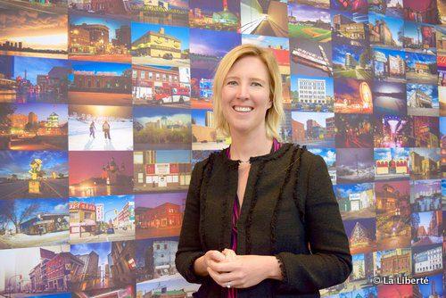 Pascale Rocher, la responsable marketing et tourisme du nouveau centre commercial ouvert début mai à Winnipeg.