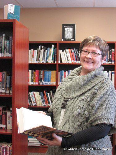 Diane Bazin, gestionnaire du développement régional à la Société franco-manitobaine, a travaillé avec la municipalité de Lorne pour assurer l'intégration de la Bibliothèque Père-Champagne de Notre- Dame-de-Lourdes (en photo) et la Bibliothèque Somerset Library.