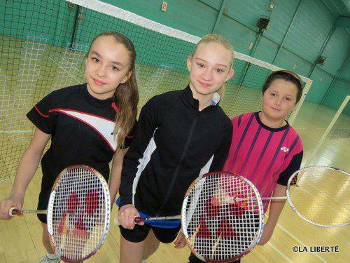 Des passionnés de badminton : Amélie et Bodin Boissonneault et Joel Rivard.