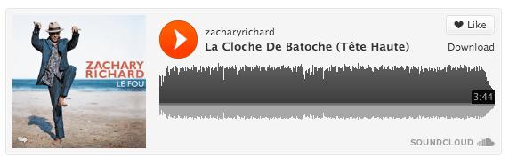 La cloche de Batoche par Zachary Richard.