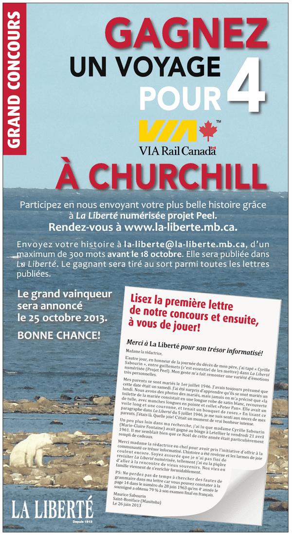 Concours La Liberté et projet Peel