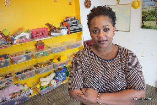 Inné Dicko trésorière et mère de deux enfants à la Garderie des Bambins.