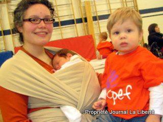 Lizanne Hombach et ses deux garçons