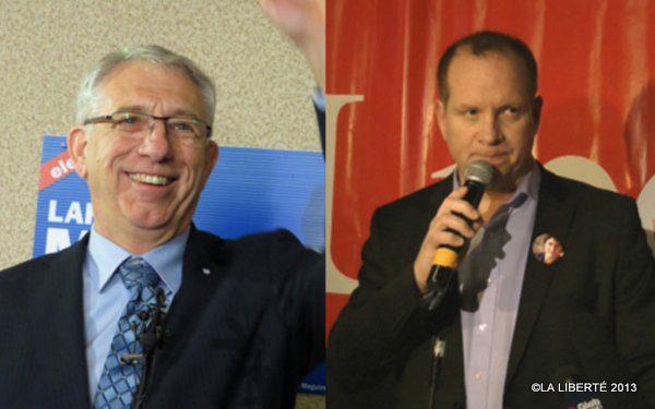 Le conservateur Larry Maguire (à gauche) a devancé Rolf Dinsdale de 391 voix.