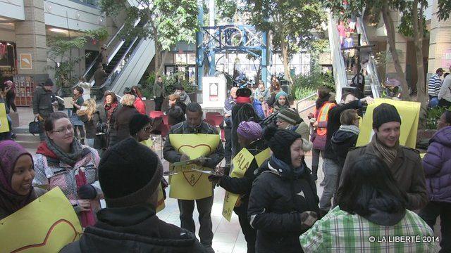 La marche est partie de Portage Place.