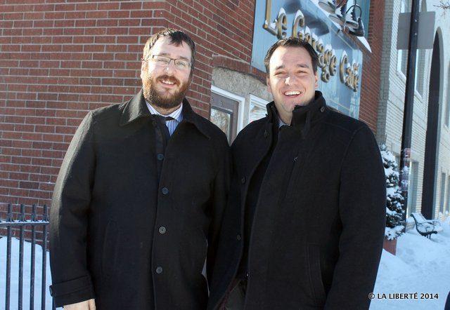 Marc Foidart et Robert Tétrault, les organisateurs du tournoi de hockey de rue Le Classique.