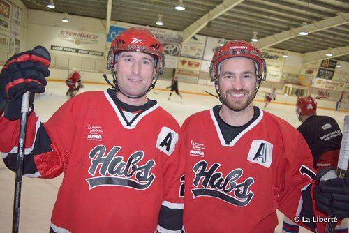 Patrick Gauthier et Réjean Carrière. La joie d'être sur la glace.