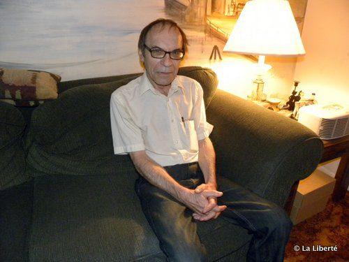 Charles Leblanc, écrivain au festival Livre en fête de Winnipeg.