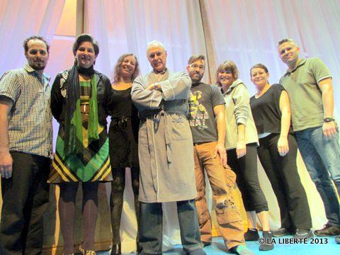 De gauche à droite: Simon Miron, Geneviève Pelletier, Natalie Feheregyhazi, Francis Fontaine, Miguel Fortier, Anna-Laure Koop, Micheline Girardin et Keith Damboise.
