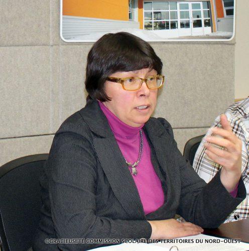 La présidente de la Commission scolaire des Territoires du Nord-Ouest, Suzette Montreuil.