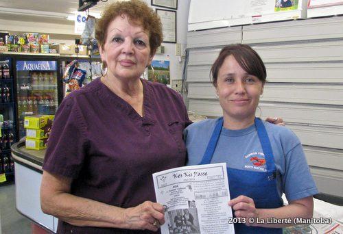 Freda Tougas et Lynn Gagnon. La Liberté - À la Une (Manitoba)