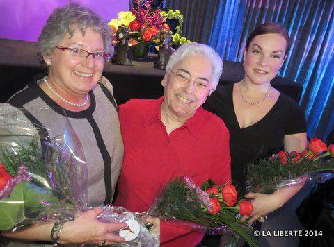 Diane Dornez-Laxdal, Jacqueline Blay et Christine Lamontagne, lauréates du Prix Riel.