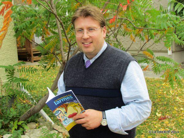 Laurent Poliquin est l'auteur du recueil de poésie Le maniement des larmes.