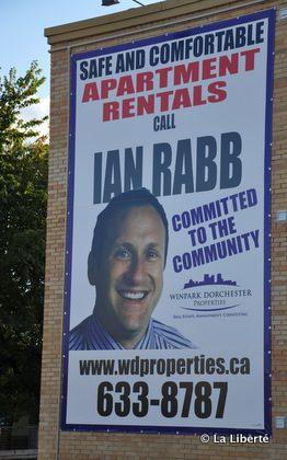 La publicité du candidat Ian Rabb