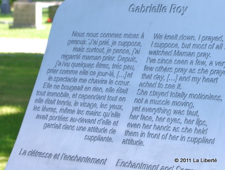 4e Statue Gabrielle Roy (Saint-Boniface, Manitoba)