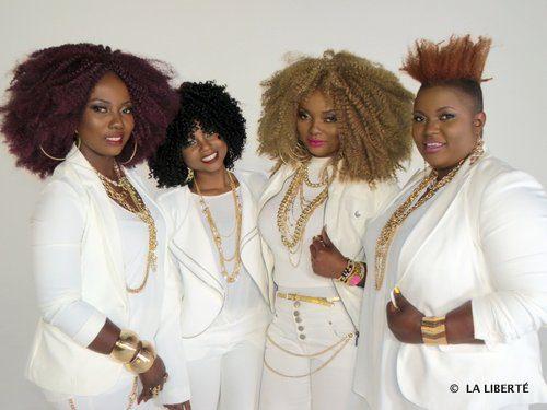 Rachelle, Odette, Francine et Sylvie Bahati.